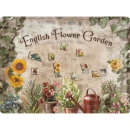 Magnettafel 'English Flower Garden'